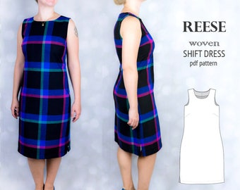 Shift dress pdf pattern/ pdf sewing pattern for women with tutorial XS-XXL