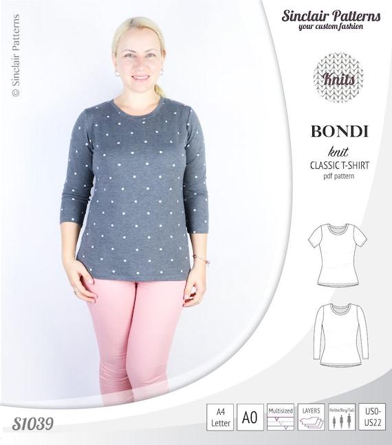 T Shirt Pdf Pattern Top Pattern Sewing Pattern For Women Etsy