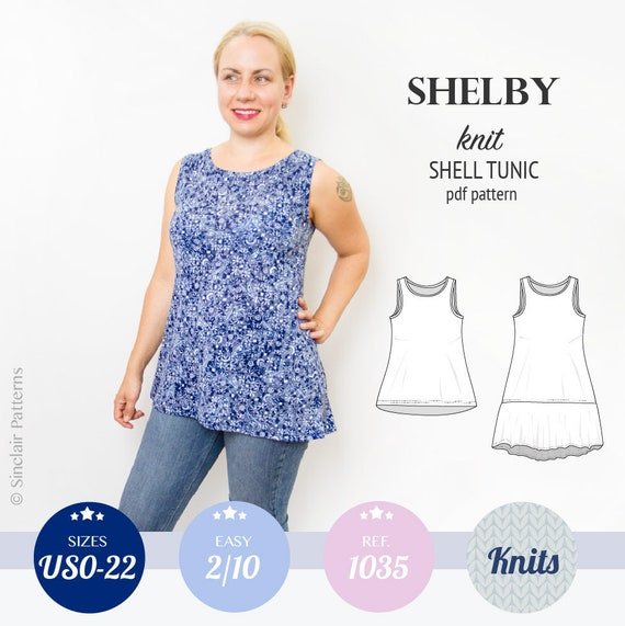 Tank Top Pattern Pdf Sewing Pattern For Women With Sewing Etsy