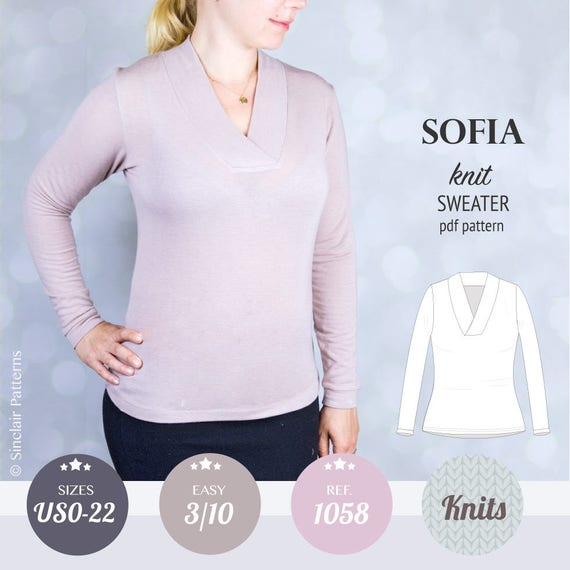 Sweater Sewing Pattern Pdf Sewing Patterns For Women Etsy