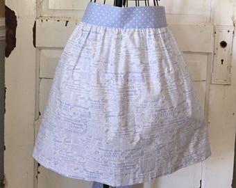 Women's Handmade Vintage Inspired Half Apron, Vintage, Kitchen Apron, Baking, Cooking, Gift, Kitchen,