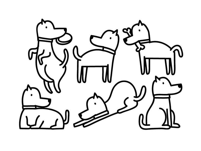 Dog Clipart Animal Clipart Cute Animal Graphic Icon Design