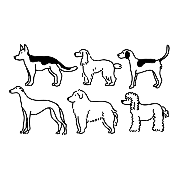 Chien Clipart Clipart Animal Mignon Animal Graphique Icone Etsy