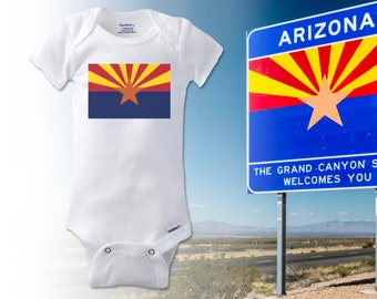 Baby Short-Sleeve Onesies Love Arizona State Flag Bodysuit Baby Outfits