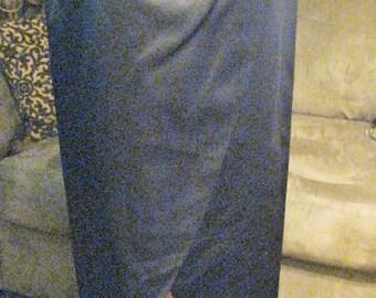 VINTAGE Black Satin Skirt