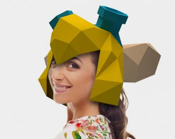 Gadget Hackwrench Hat Papercraft PDF DIY Paper Craft Low Poly Rodent Hat