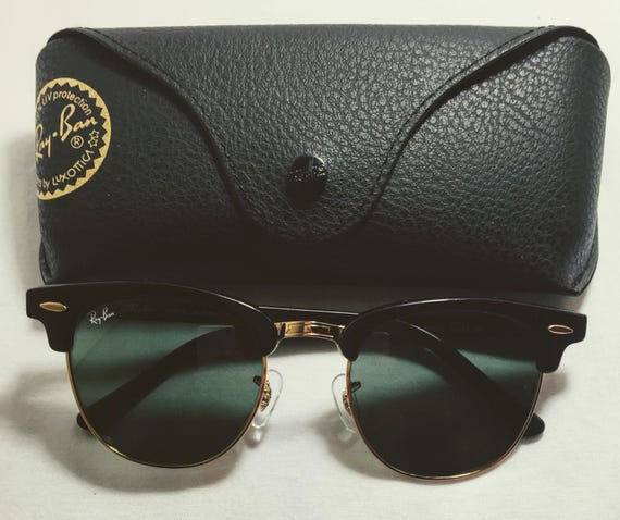 ray ban aviator black with gold frame