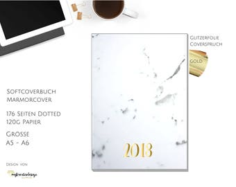 Softcover Journal dotted / Gold