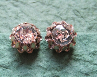 Large diamante clip on earrings