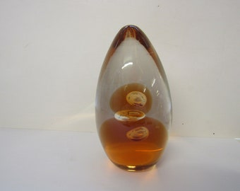 cone shaped glass paper weight