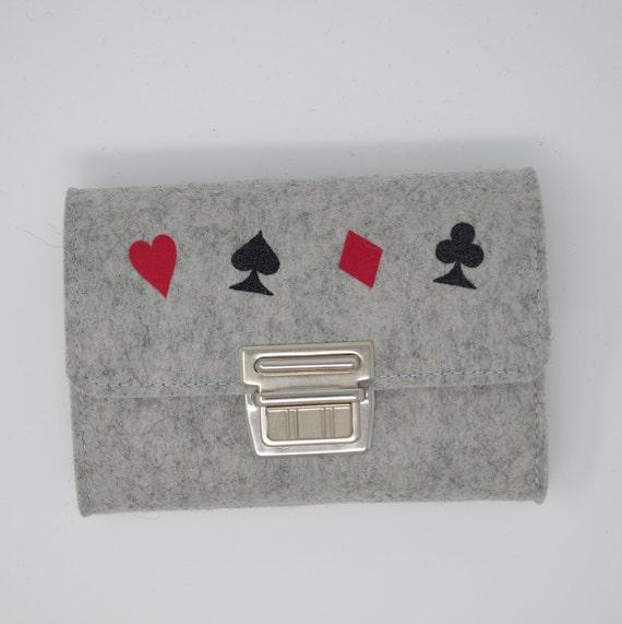 Spielkarten Etui Karten Etui Aus Filz Wollfilz