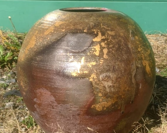 Wood Fired Orb with Gold Luster