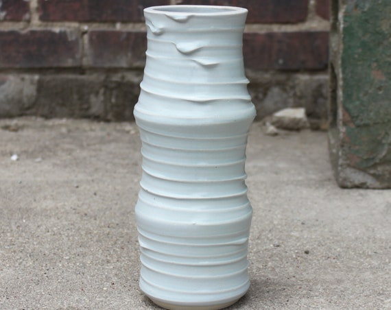 Periwinkle Bamboo Vessel