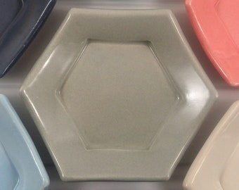 Light Gray Hexagon Tessellation Plate