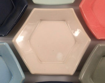 White Hexagon Tessellation Plate