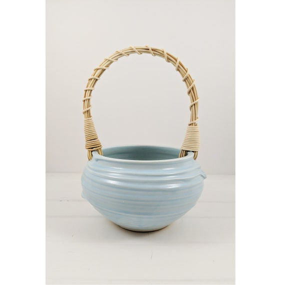 Basket with Reed Handle
