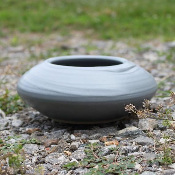 Dark Gray Ikebana Bowl