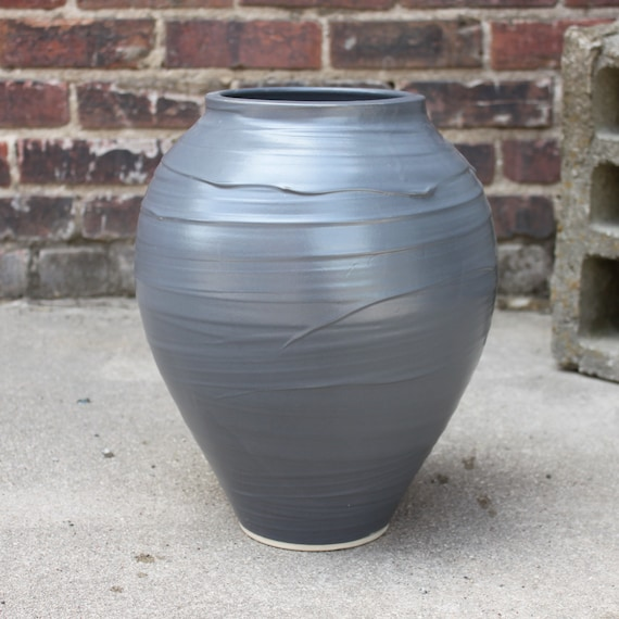 Charcoal Large Tabletop Vessel