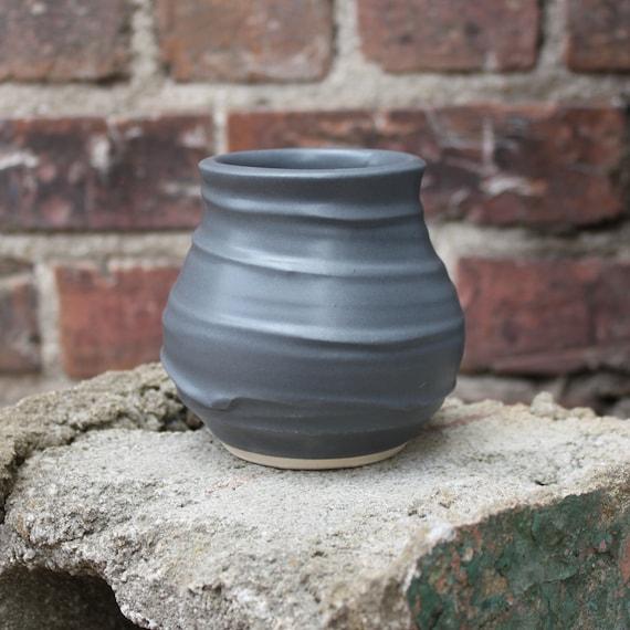 Charcoal Flower Vase