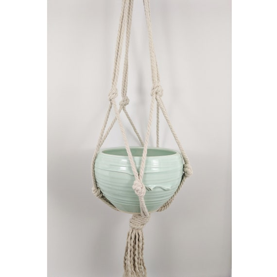 Hanging Cachepot Planter with Rope Basket
