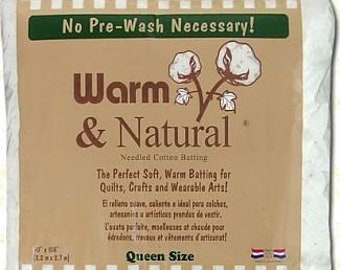 "Warm & Natural Cotton Batting - Queen Size 90"" x 108"" - 2341WN"