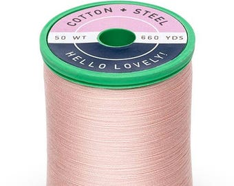 Medium Peach (1015) Cotton + Steel 50wt Egyptian Cotton Thread by Sulky