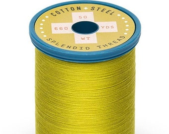 Pea Soup (1834) Cotton + Steel 50wt Egyptian Cotton Thread by Sulky