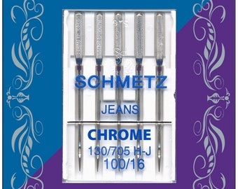 Schmetz Chrome Denim Needles - Size 100/16 - Item #4012