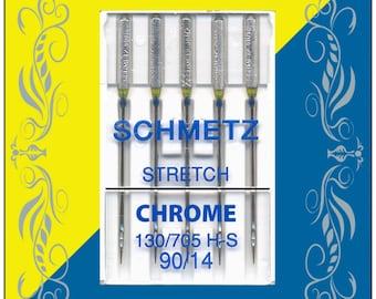 Schmetz Chrome Stretch Needles - Size 90/14 - Item #4013