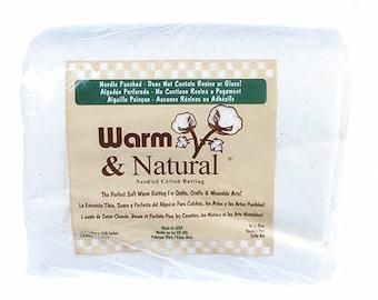 "Warm & Natural Cotton Batting - King Size 120"" x 124"" - 2251WN"