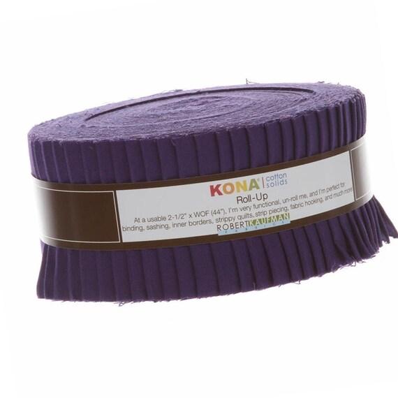 Robert Kaufman Kona Cotton Solids Citrus Fruit Half Roll 2.5 Precut Cotton Fabric Quilting Strips Assortment HR-143-24