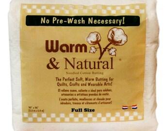 "Warm & Natural Cotton Batting - Full Size 90"" x 96"" - 2381WN"