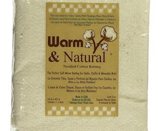 "Warm & Natural Batting - Craft Size 34"" x 45"" - 2310FWN"