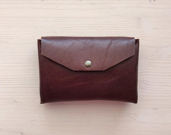 Leather mini makeup bag, Small leather pouch, Leather cosmetic bag, Fragrance bag, Minimalist perfume bag, Leather handbag organizer pouch