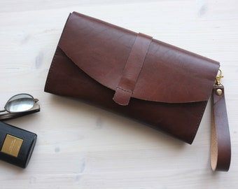 Brown Leather Clutch, Envelope Clutch, Brown Clutch, Leather Clutch, Casual Clutch, Leather Evening Bag, Leather Purse, Leather Envelope Bag