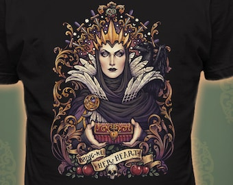 EVIL QUEEN Snowthite T-shirt - Art Nouveau quality apparel printed in USA Tshirt gothic bring me her heart tee witch Medusa Dollmaker