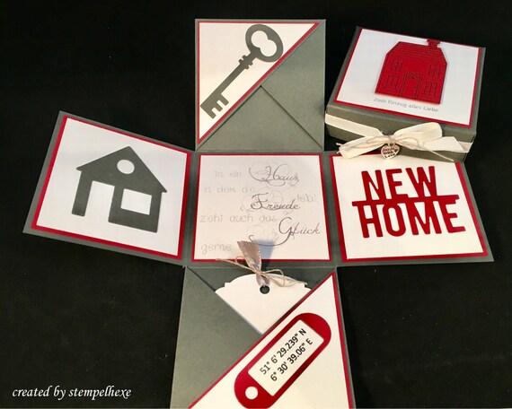 Geschenk zur Einweihung Wohnung / Haus, Geldgeschenk zum Einzug mit  individuellen Koordinaten
