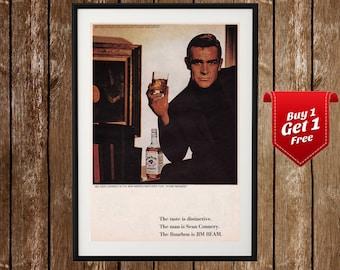 Jim Beam Vintage Ad - Sean Connery Poster f207372d3de4