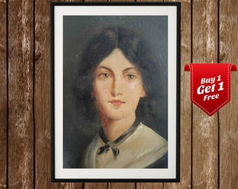 Emily Bronte Portrait, Emily Bronte Print, Emily Bronte Poster, Bronte Art, Bronte Print, English Writer, Wuthering Heights, England