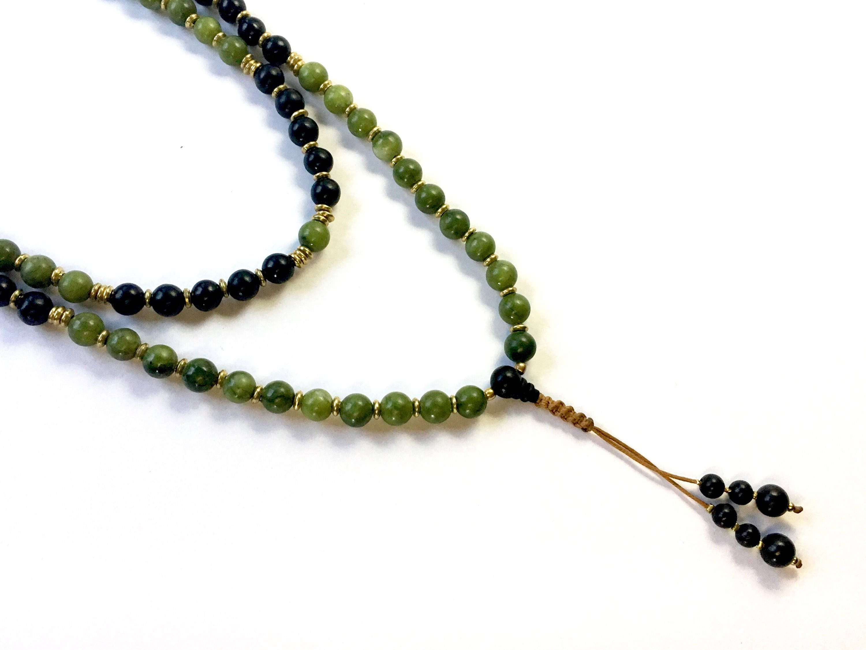 necklace eve mala greyed grey grayed buddhist jade shop beads spring prayer