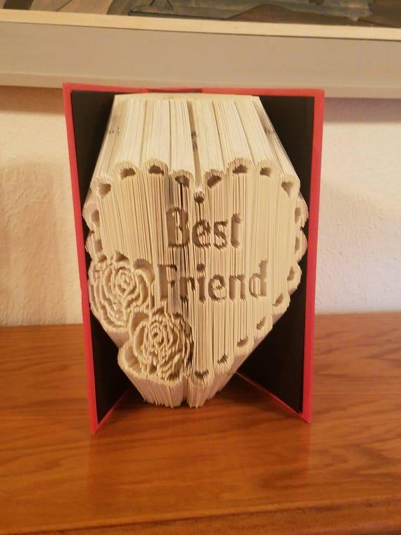 Best Friend Book Art Birthday Gift Unique Thank You