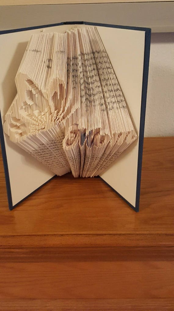 Personalised Gift Sally Present Mothers Day Folded Book Art Sculpture