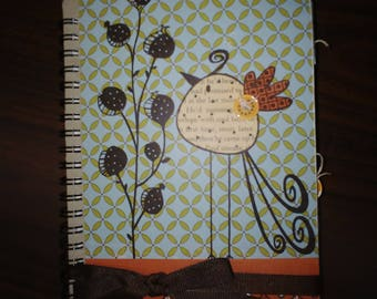 Hand Embellished Journal, with many blank pages as well as the embellishments shown.
