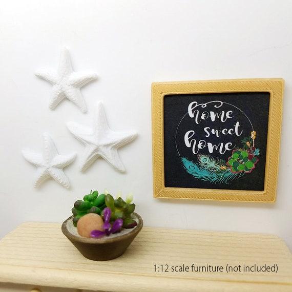 Dollhouse Miniature Set of 3 Real Miniature Starfish