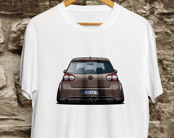 Volkswagen Golf GTI white shirt