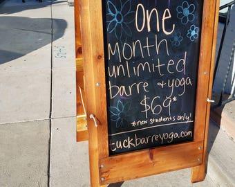 Barnwood Chalkboard Sandwich Board or Sidewalk Sign!