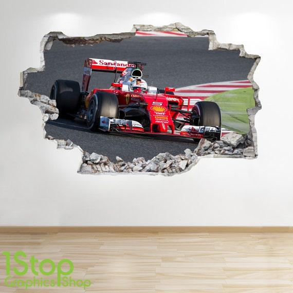 Formel 1 Wandtattoo 3d Look Jungen Kinder Schlafzimmer Etsy