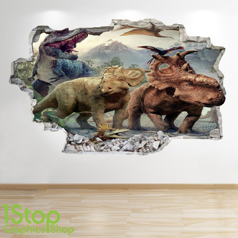 BEDROOM LOUNGE NATURE ANIMAL WALL DECAL Z565 WOLF WALL STICKER 3D LOOK