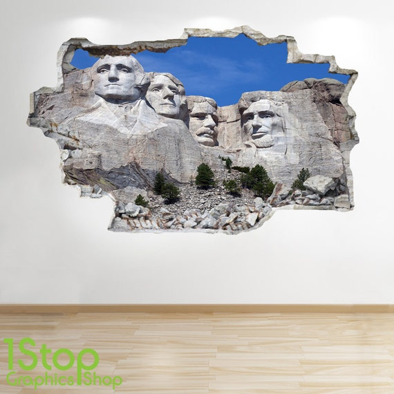 Mount rushmore wandtattoo 3d look schlafzimmer lounge for 3d wandtattoo schlafzimmer