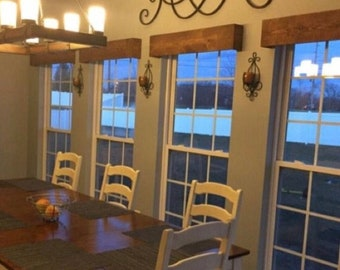 SET OF 2 Rustic Farmhouse Valance /Wooden Valance / Window Cornice Board /Window Valance /Rustic Window Decor/Wooden Valance for window